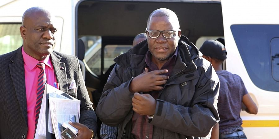 Zimbabwean opposition official Tendai Biti arrives at the magistrates courts in Harare. (Photo | AP)