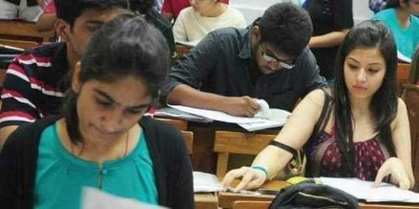 Exam hall students
