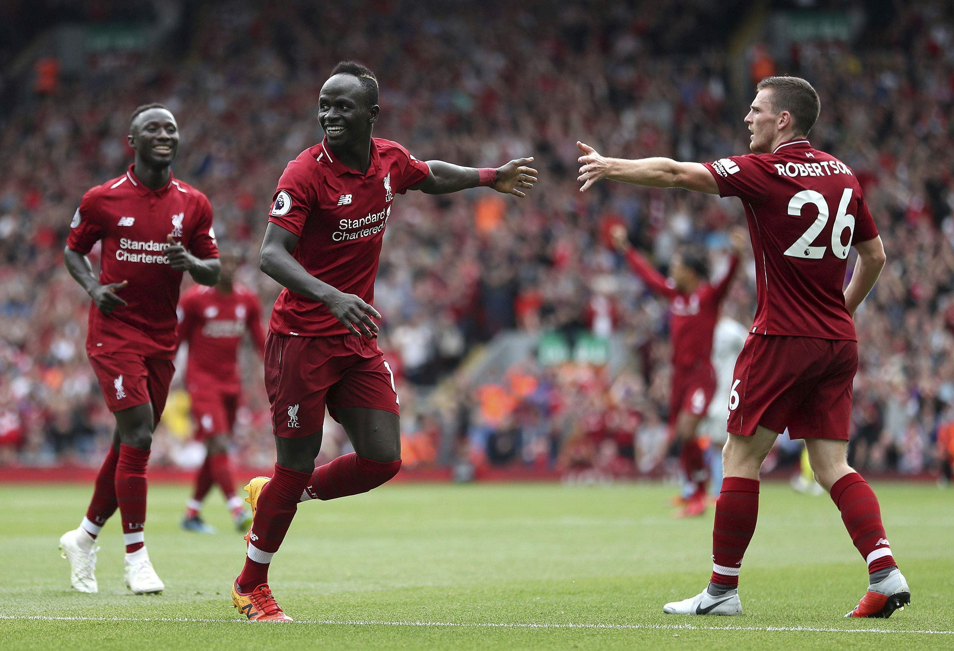 Liverpool's Sadio Mane scored either side of half-time, leading his side to an impressive 4-0 thrashing of West Ham United in their Premier League opener. (Photo | AP)