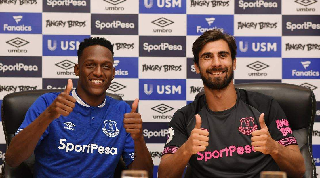 YERRY MINA and Andre Gomes