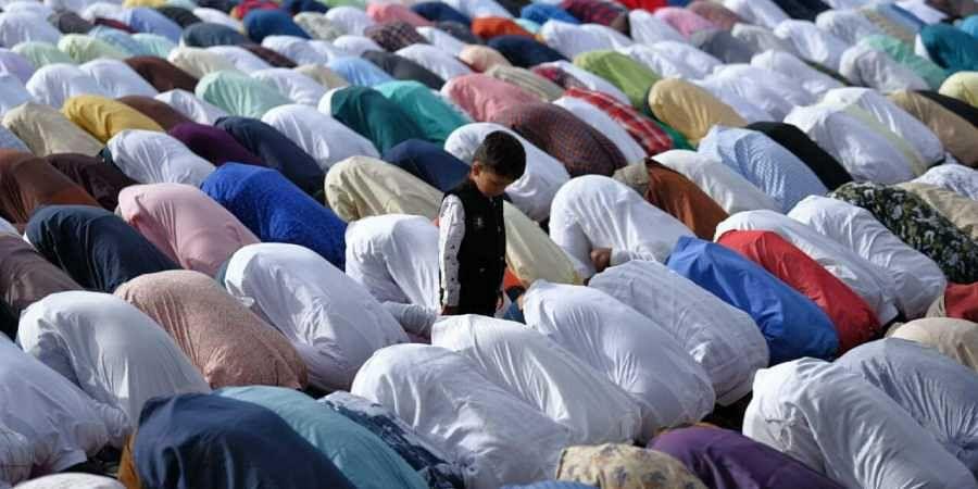 Muslims offers prayers