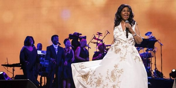 Aretha Franklin performs at the world premiere of 'Clive Davis: The Soundtrack of Our Lives' at Radio City Music Hall, during the 2017 Tribeca Film Festival, in New York.( Photo | AP)