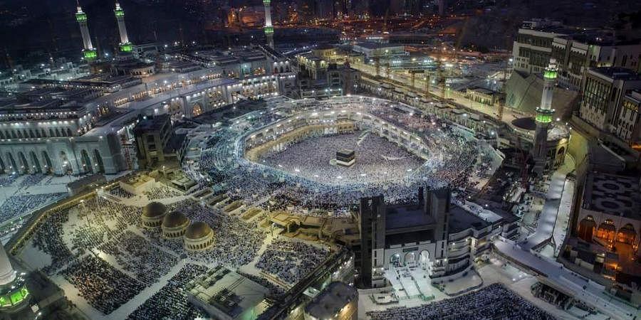 Muslim pilgrims pray at the Grand Mosque, ahead of the annual Hajj pilgrimage in the Muslim holy city of Mecca, Saudi Arabia. (Photo | AP)
