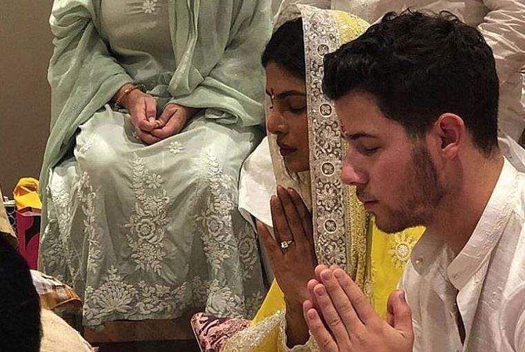 SEE PHOTOS | Priyanka Chopra, Nick Jonas get engaged in traditional roka ceremony- The New Indian Express