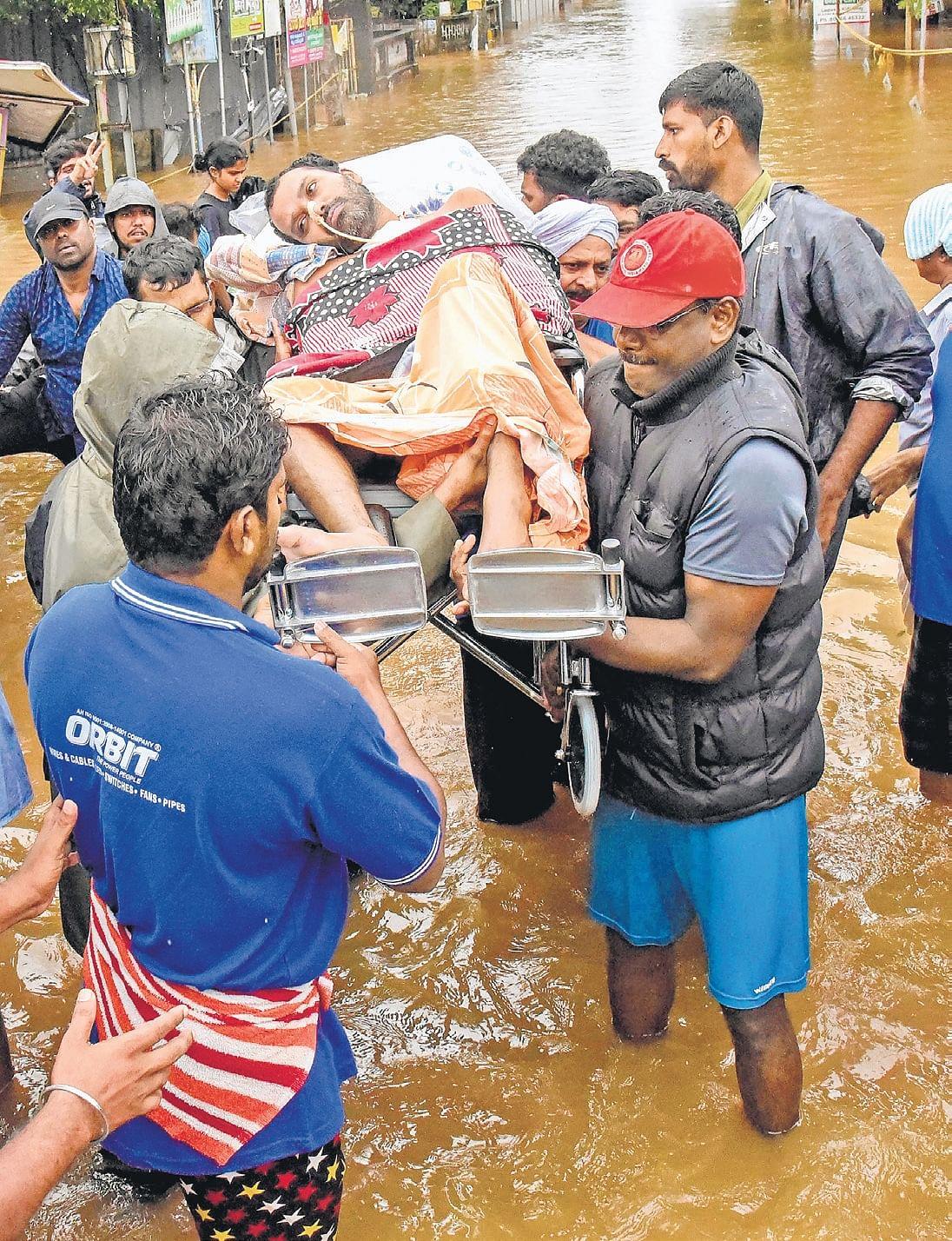 Kerala rain, water