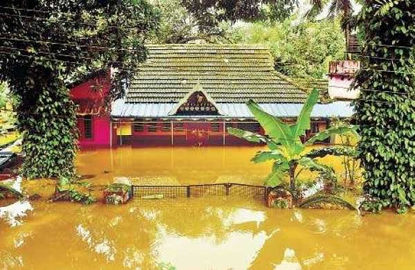 A house in Aluva that was submerged in the heavy flooding Albin Mathew