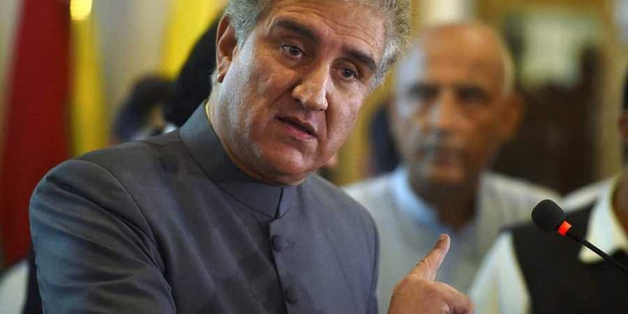 Pakistan's Foreign Minister Shah Mahmood Qureshi, speaks during a press conference after taking the oath of office, in Islamabad, Pakistan. (Photo | AP)