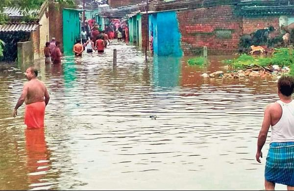 An inundated lane in Rourkela. I Express Photo Services