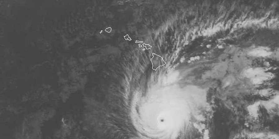 This satellite image provided by NOAA on Wednesday, Aug 22, 2018 shows Hurricane Lane south of Hawaii | AP