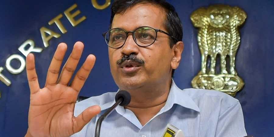 Delhi Chief Minister Arvind Kejriwal addresses a press conference in New Delhi. (Photo | PTI)