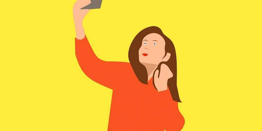 selfie, illustration, graphic, pixabay