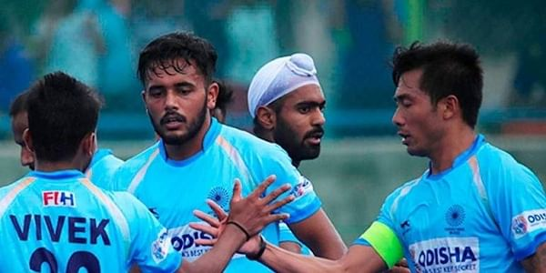 Indian hockey team.  (Photo | Hockey India Twitter)