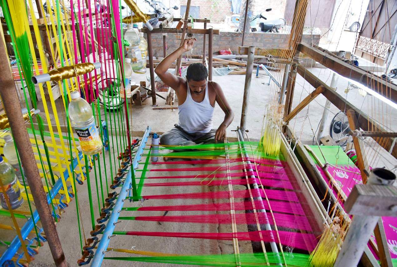 Image result for weavers in indian villages