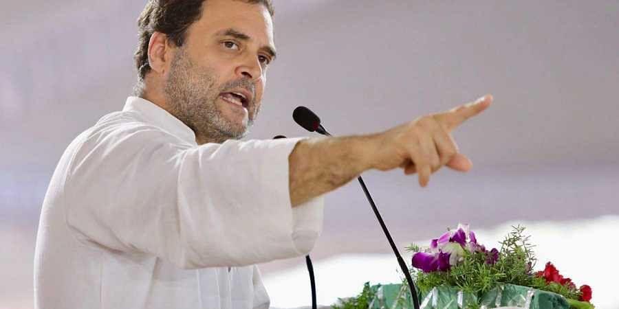 Congress chief Rahul Gandhi