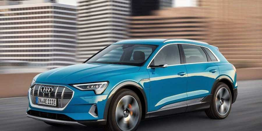 Audi's first all-electric model, the e-tron, makes its debut