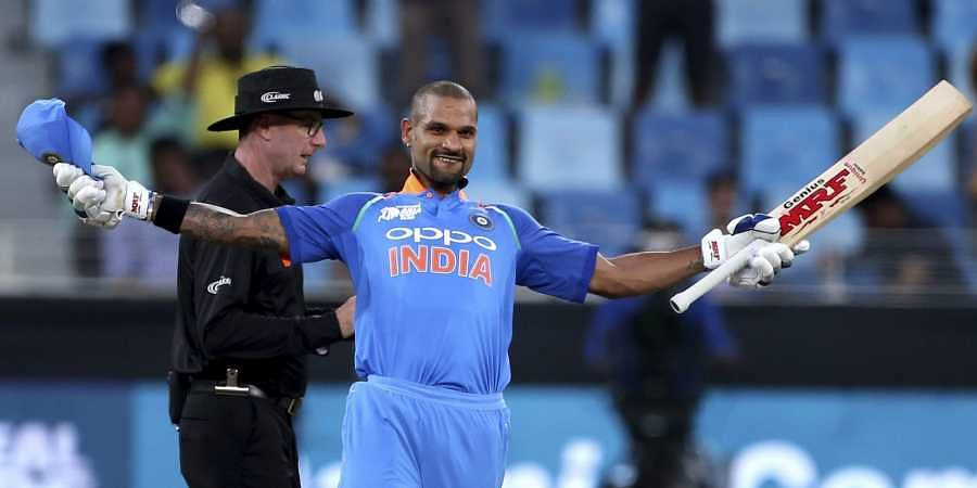 Dhawan scored 127 against Hong Kong on Tuesday night as India won by 26 runs to make a winning start in the tournament. (Photo | AP)