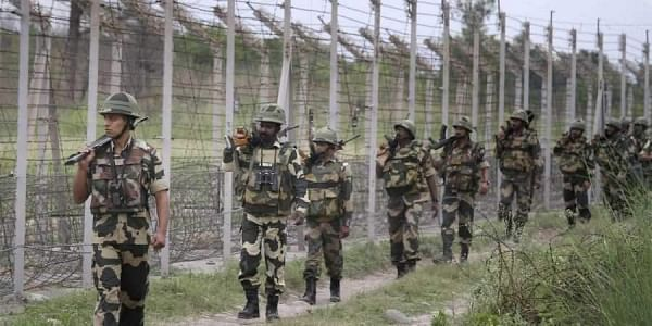 A file image of BSF personnel patrolling near the International Border. (Photo | PTI)