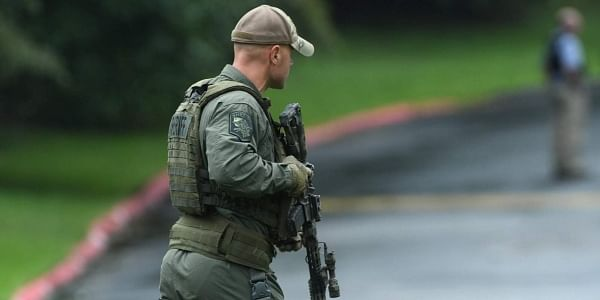 Authorities say multiple people have been shot in northeast Maryland in what the FBI is describing as an 'active shooter situation' | AP