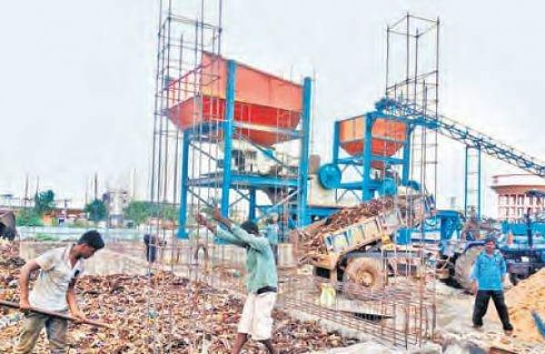 Heavy machinery being installed for conducting trail run of the plant | EXPRESS