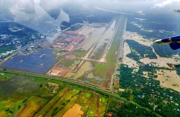 Aerial photo of Kerala floods. (Photo | PTI).
