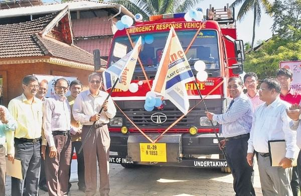 IOC officials flag off the new Emergency Response Vehicle