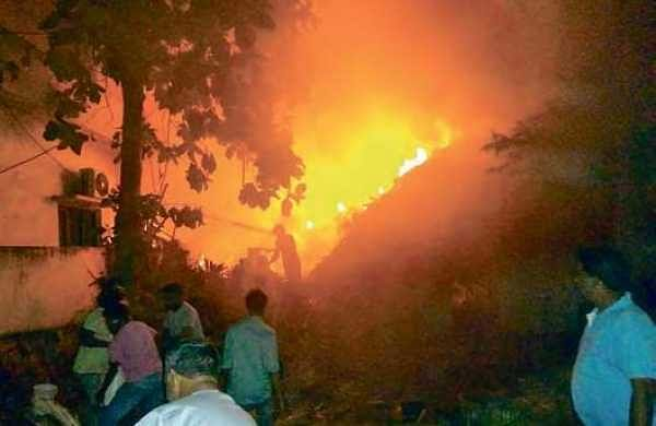 An illegal firecracker manufacturing unit at Lalacheruvu in Rajamahendravaram went up in flames on Friday night, killing three persons | Express