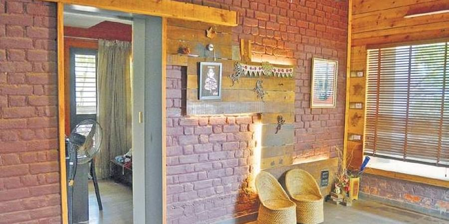 Nothing Goes To Waste A Sustainable Low Cost House Built From Scrap The New Indian Express