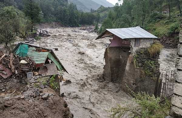 A swollen Beas river flows after heavy rains in the region in Kullu district Monday Sept 24 2018. | PTI