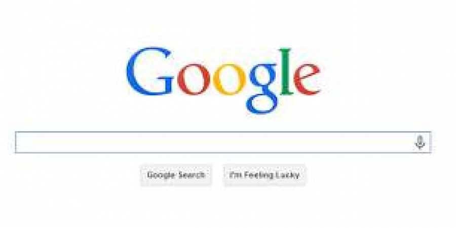 Google search engine.