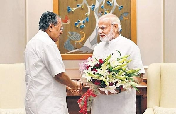Chief Minister Pinarayi Vijayan with  the Prime Minister in New Delhi