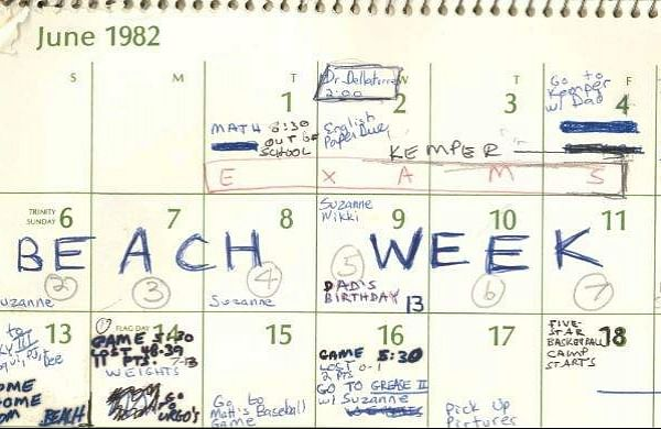 1982 Calendar Telugu.A Look At Brett Kavanaugh S 1982 Calendar Sports Movies Parties
