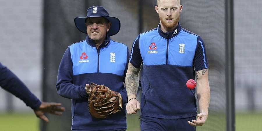 England's coach Trevor Bayliss (L) and Ben Stokes (R). (File | AP)