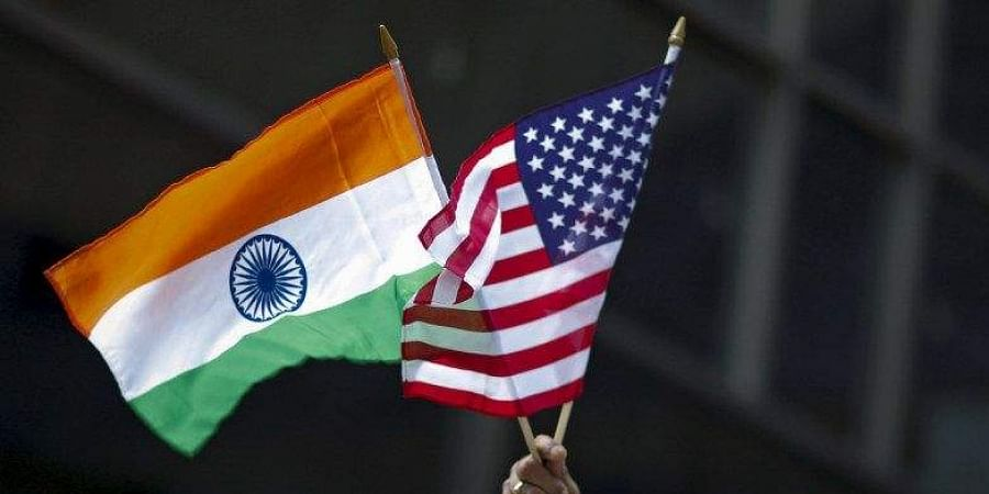 India US flags