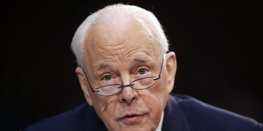 John Dean, former Counsel to the President President Richard Nixon, speaks to the Senate Judiciary Committee during the final stage of the confirmation hearing for President Donald Trump's Supreme Court nominee, Brett Kavanaugh, on Capitol Hill in Washing