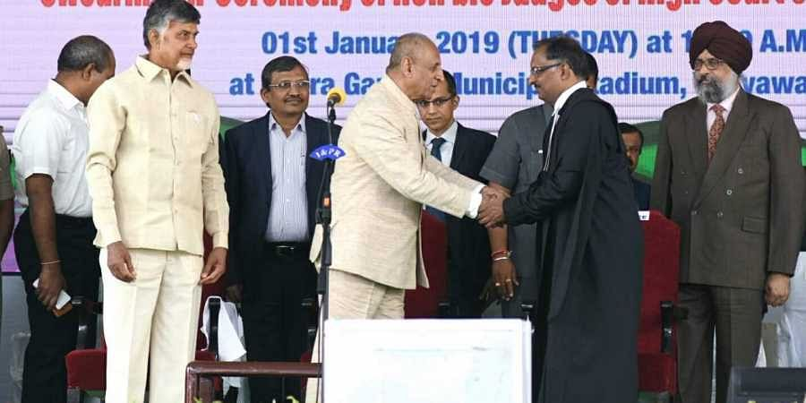 Justice Chagari Praveen Kumar sworn in as first Chief Justice of