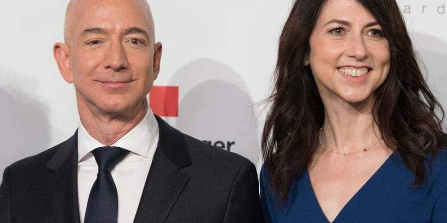 Jeff and MacKenzie Bezos. (Photo | AFP)