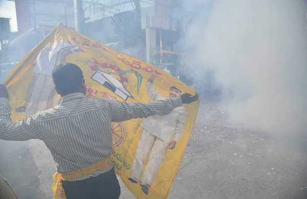 Image of a TDP supporter used for representational purpose (Photo | Satish Babu/EPS)