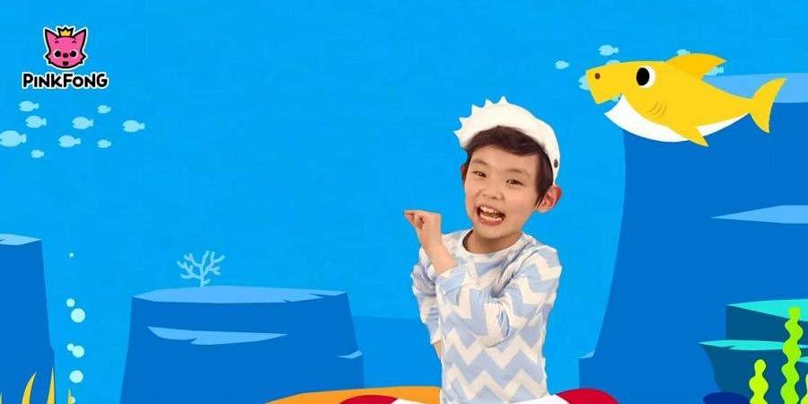 youtube screengrab from baby shark song