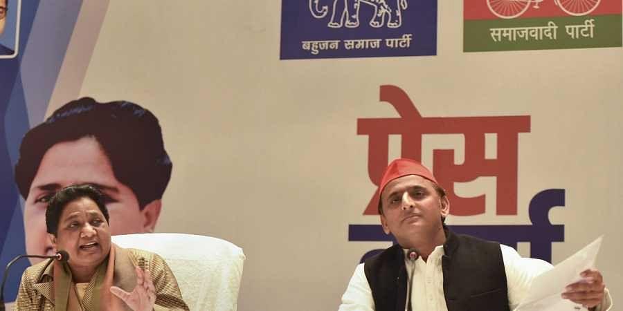 Akhilesh, Mayawati, SP-BSP