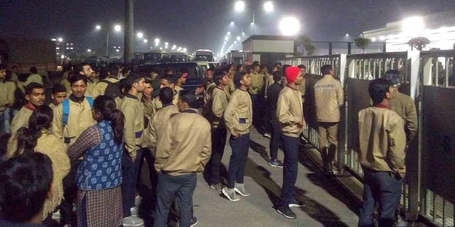 Samsung factory workers strike