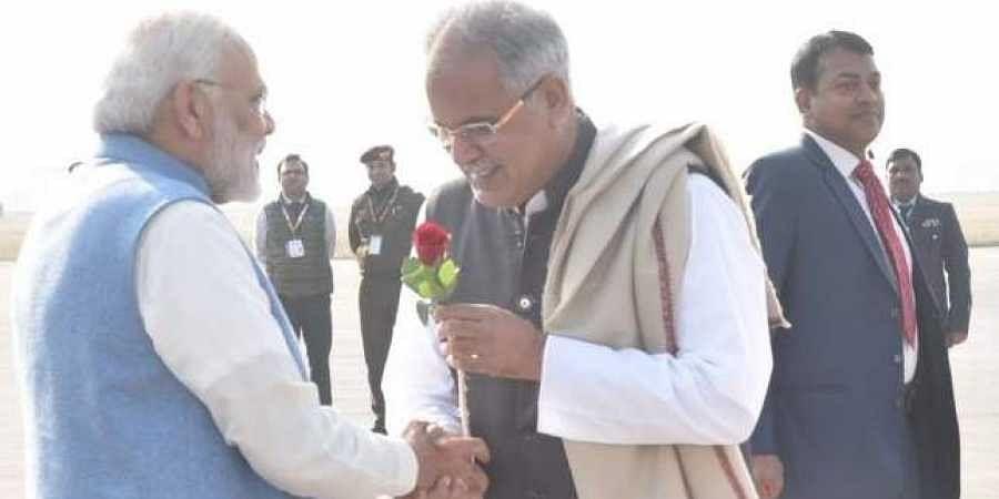 Bhupes Baghel, PM Modi