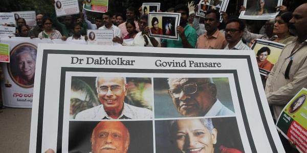 Activists and thinkers, Narendra Dabholkar, Govind Pansare, MM Kalburgi and journalist Gauri Lankesh. (Photo | File/EPS)