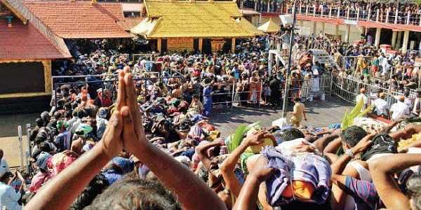 The rush of devotees for darshan at the Sabarimala temple on Thursday (Photo   Manu R Mavelil/EPS)