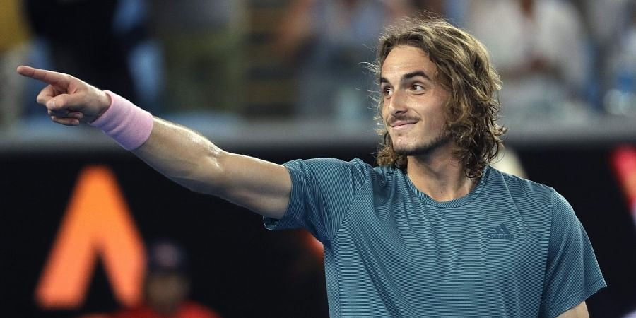 Stefanos Tsitsipas Eyes Up Roger Federer After Rollicking Victory The New Indian Express