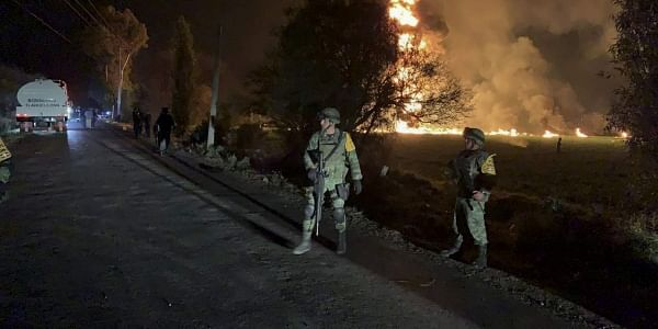 In this image provided by the Secretary of National Defense, soldiers guard in the area near an oil pipeline explosion in Tlahuelilpan, Hidalgo state, Mexico. (Photo | AP)