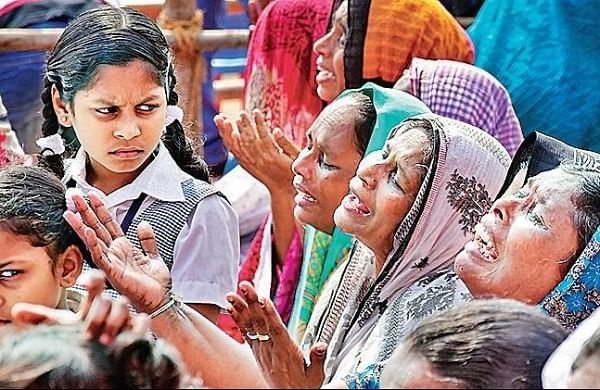 Families of fishermen who were affected by the Ockhi tragedy. (Photo | File)