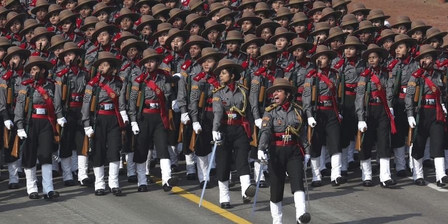 A women's contingent of the paramilitary Assam Rifles participate for the first time at the Republic Day parade. (Photo   AP)