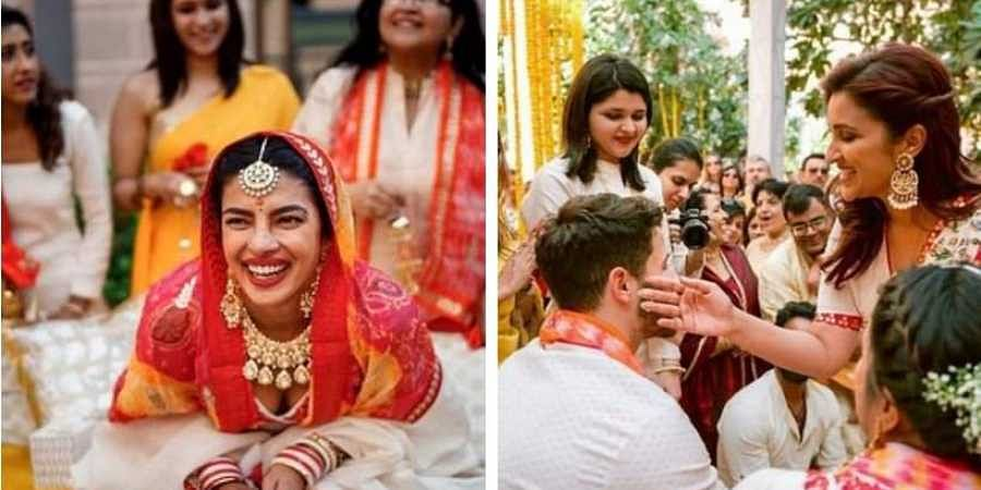 2c1b0b6149 Priyanka Chopra and Nick Jonas had a fun-filled haldi. (Photo | Twitter)