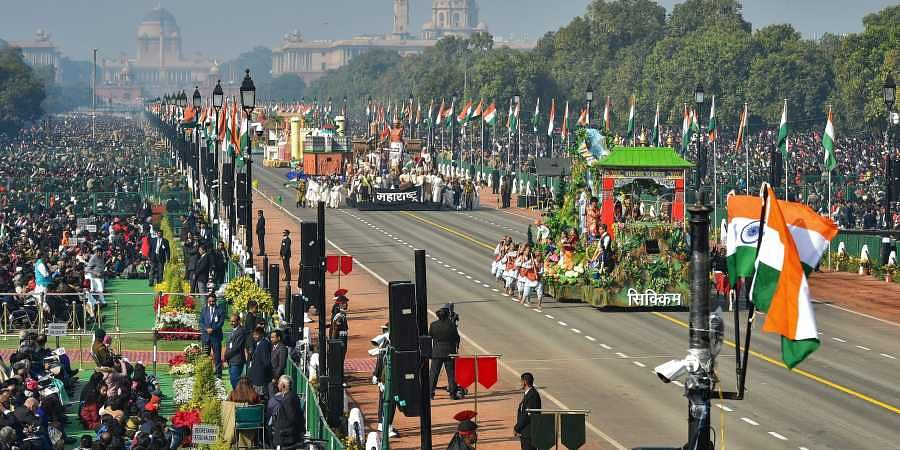 Tableaus of the state move at Rajpath during the 70th Republic Day Parade in New Delhi. (Photo | PTI)