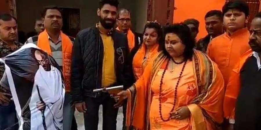 Hindu Mahasabha national secretary Puja Shakun Pandey